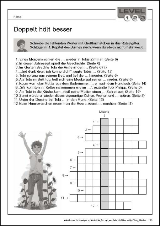 Klassenlektüre - Kopiervorlage Begleitmaterial Tobi Seite 15