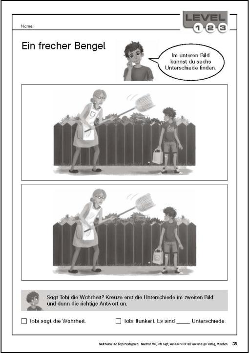 Klassenlektüre - Kopiervorlage Begleitmaterial Tobi Seite 35