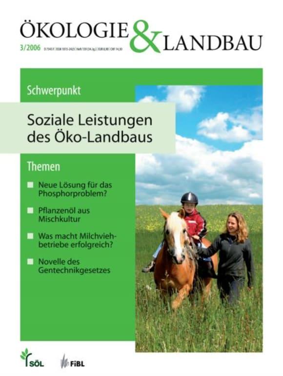Cover: Soziale Leistungen des Öko-Landbaus
