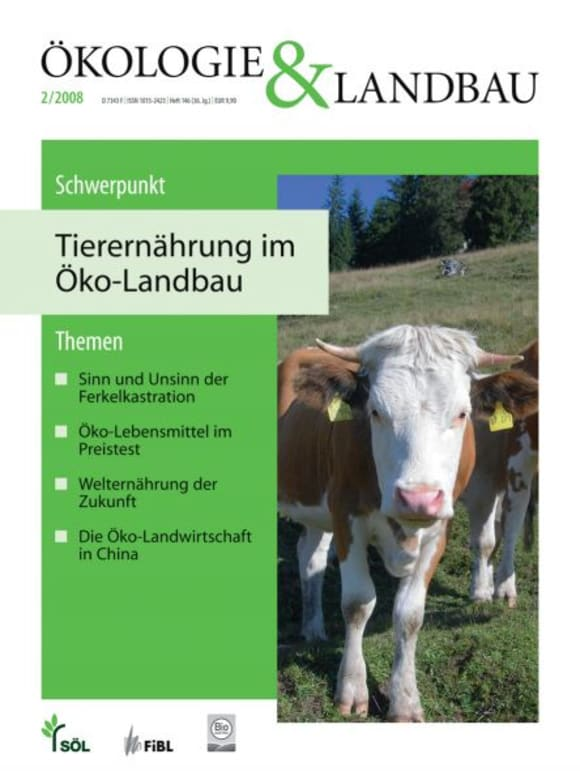 Cover: Tierernährung im Öko-Landbau