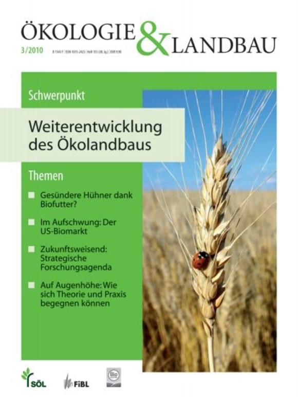 Cover: Weiterentwicklung des Ökolandbaus