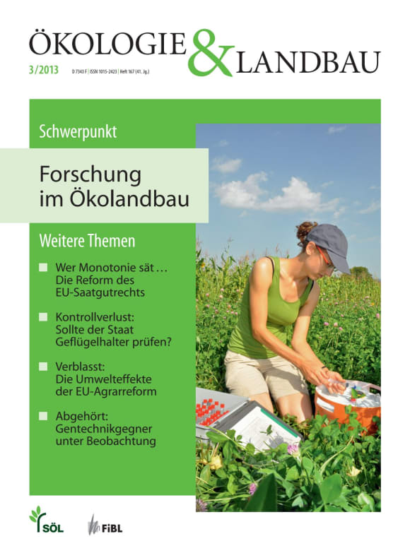 Cover: Forschung im Ökolandbau