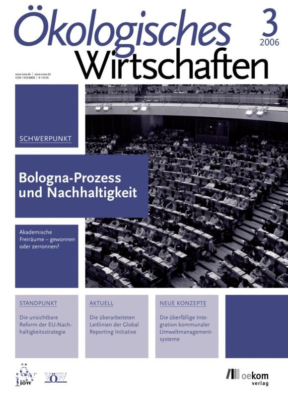 Cover: Bologna-Prozess und Nachhaltgkeit
