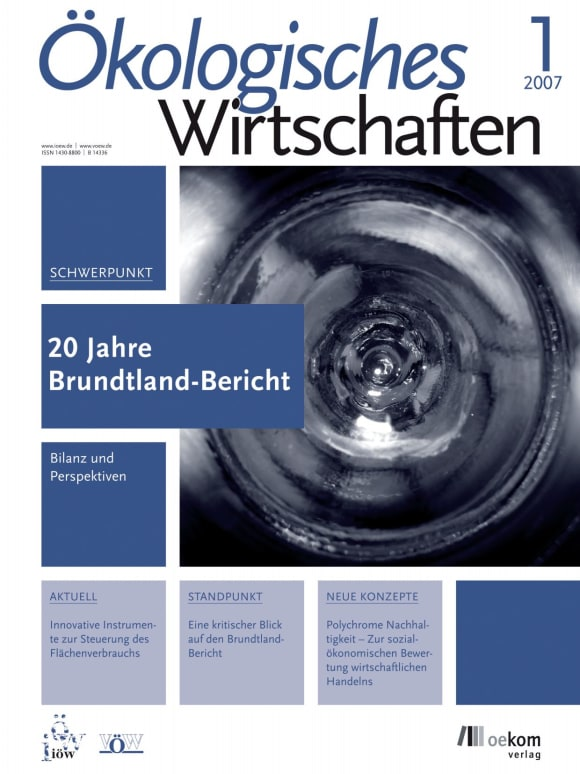 Cover: 20 Jahre Brundtland-Bericht