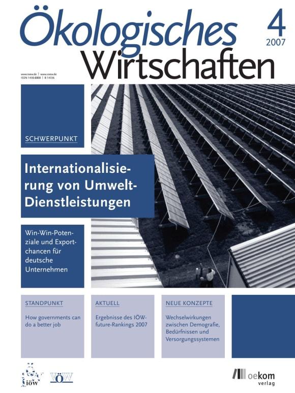 Cover: Internationalisierung von Umweltdienstleistungen