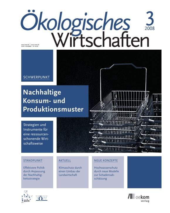 Cover: Nachhaltige Konsum- und Produktionsmuster