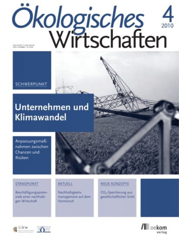 Cover: Unternehmen und Klimawandel