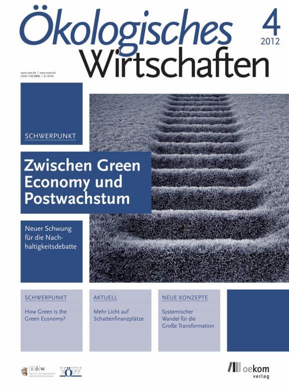 Cover: Zwischen Green Economy und Postwachstum
