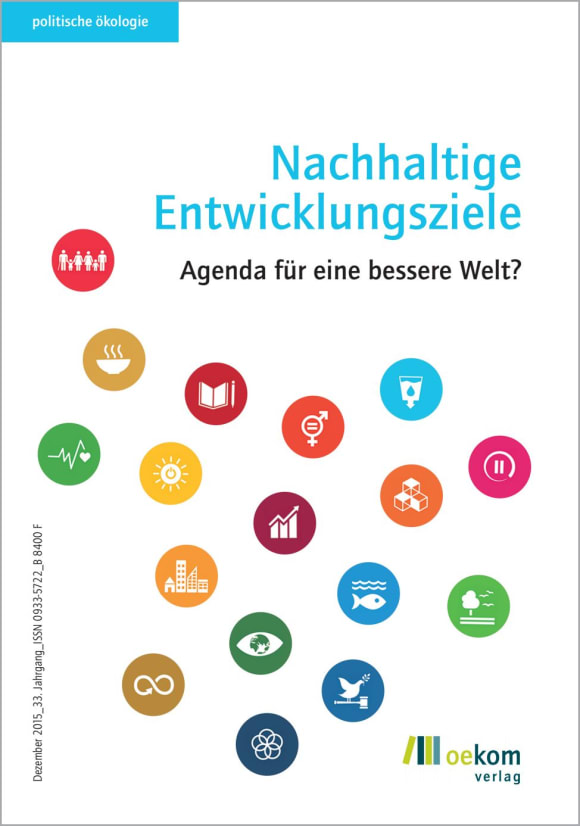 Cover: Nachhaltige Entwicklungsziele