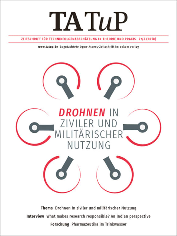 Cover: Drones in military and civil applications
