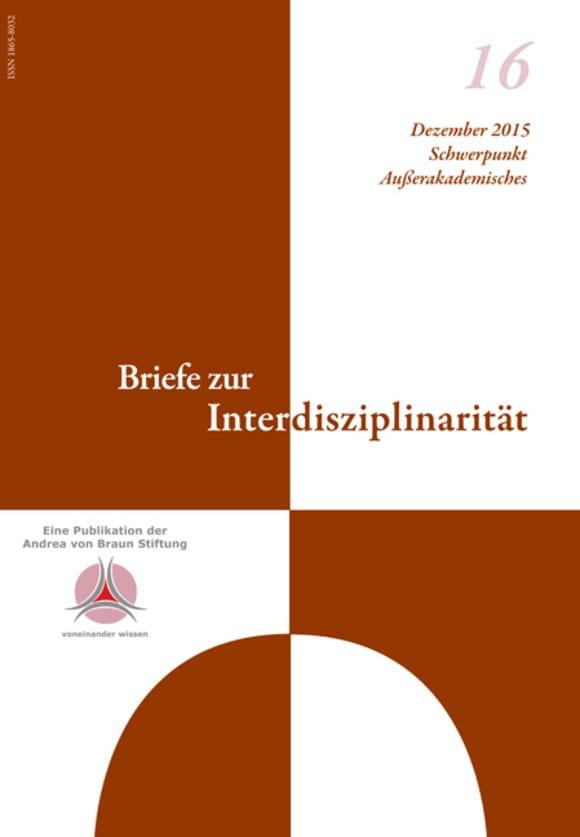 Cover: Schwerpunkt Außerakademisches