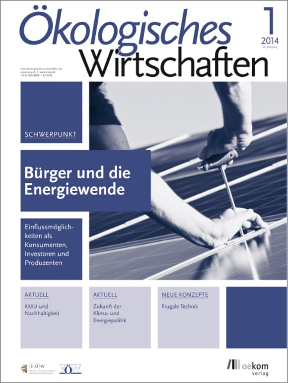 Cover: Bürger und die Energiewende