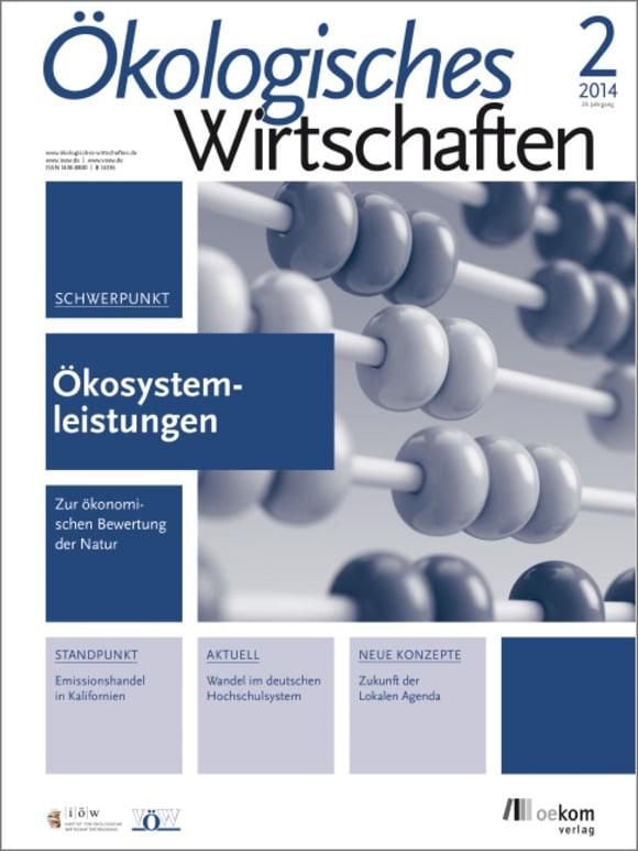 Cover: Ökonomische Bewertung von Ökosystemdienstleistungen