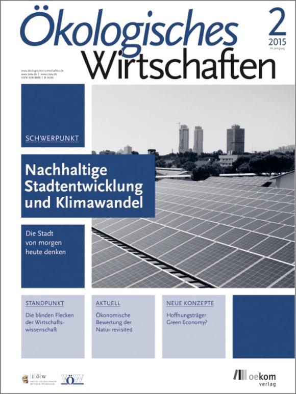 Cover: Nachhaltige Stadtentwicklung und Klimawandel