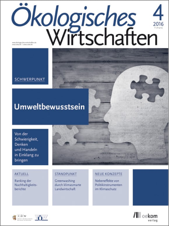 Cover: Umweltbewusstsein