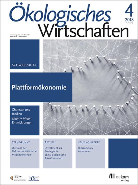Cover: Plattformökonomie