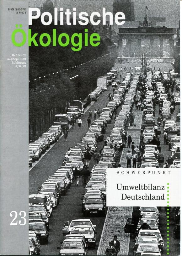 Cover: Umweltbilanz Deutschland