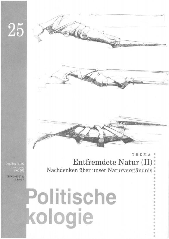 Cover: Entfremdete Natur (II)