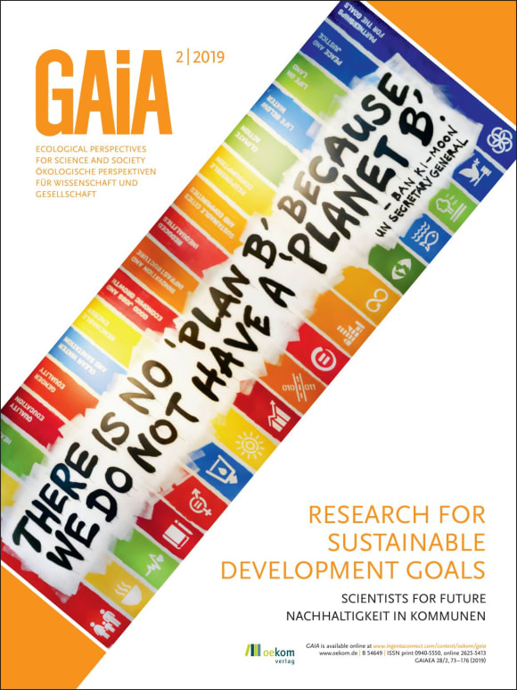 Cover: Research for Sustainable Development Goals