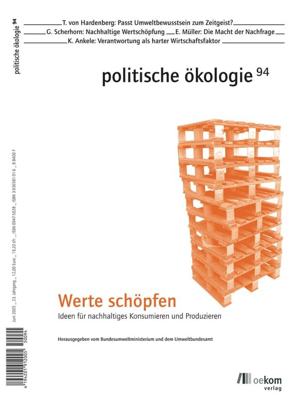 Cover: Werte schöpfen