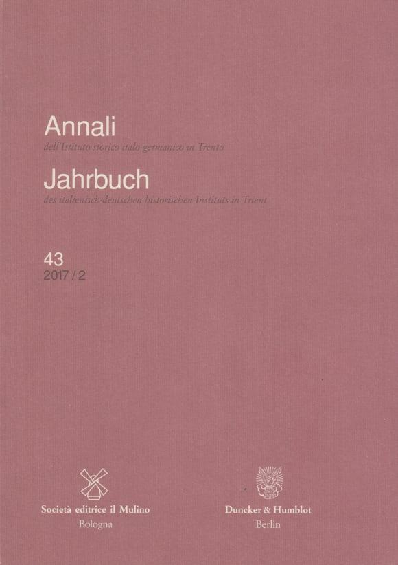 Cover Annali dell'Istituto storico italo-germanico in Trento / Jahrbuch des italienisch-deutschen historischen Instituts in Trient (HIST JB)