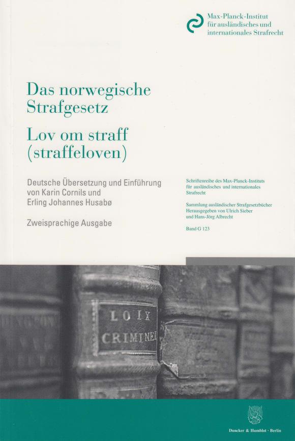 Cover Das norwegische Strafgesetz / Lov om straff (straffeloven)