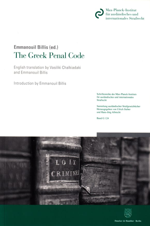 Cover The Greek Penal Code