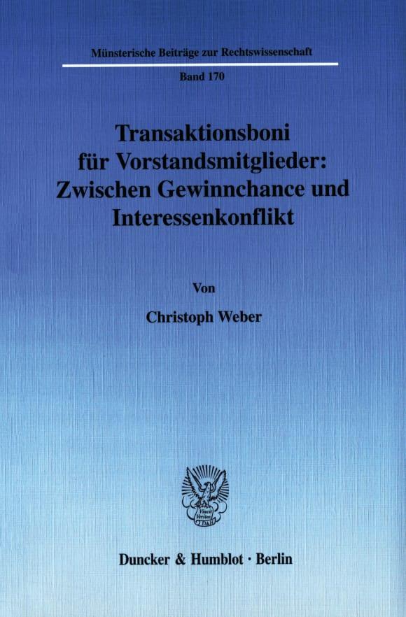 Cover Transaktionsboni für Vorstandsmitglieder: Zwischen Gewinnchance und Interessenkonflikt