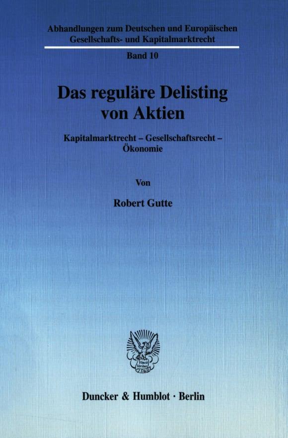 Cover Das reguläre Delisting von Aktien