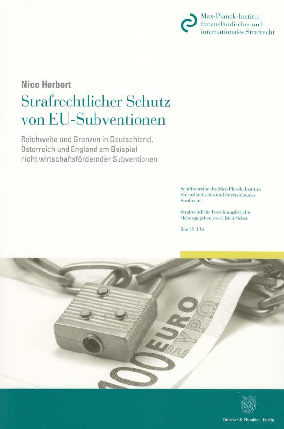 Cover Strafrechtlicher Schutz von EU-Subventionen