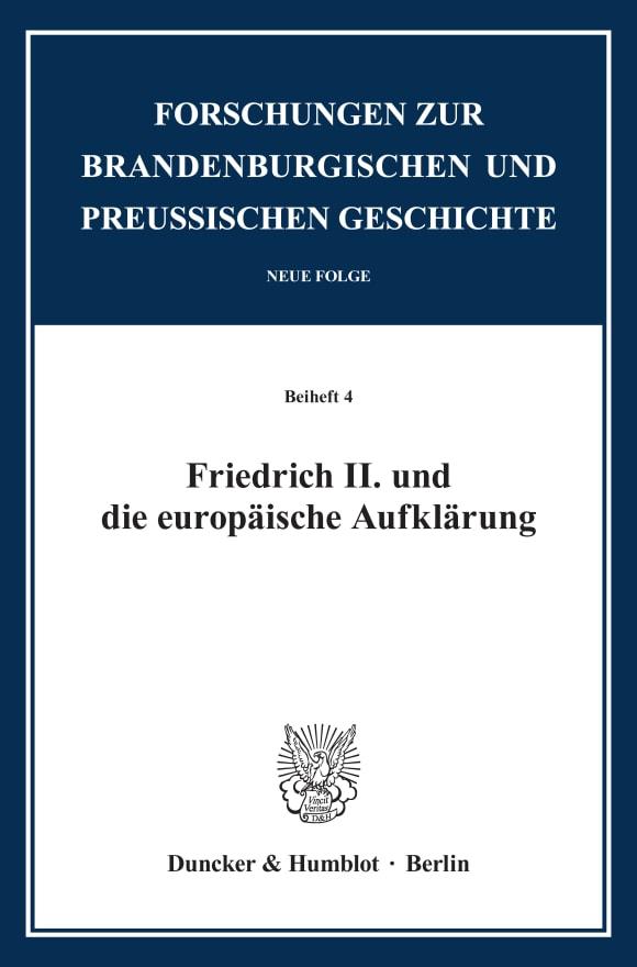 Cover Friedrich II. und die europäische Aufklärung