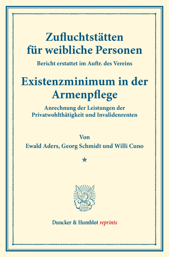Cover Zufluchtstätten für weibliche Personen