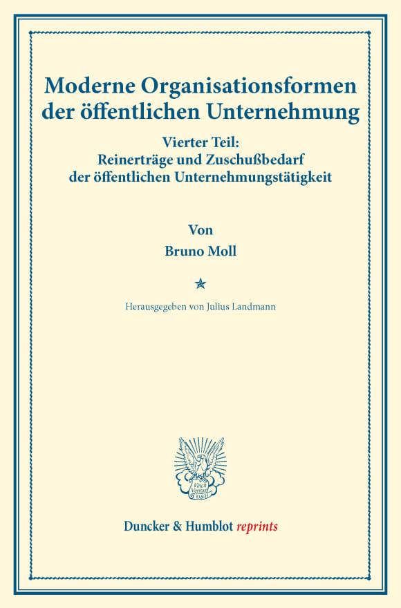 Cover Moderne Organisationsformen der öffentlichen Unternehmung