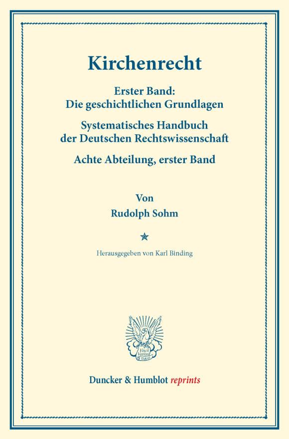 Cover Kirchenrecht