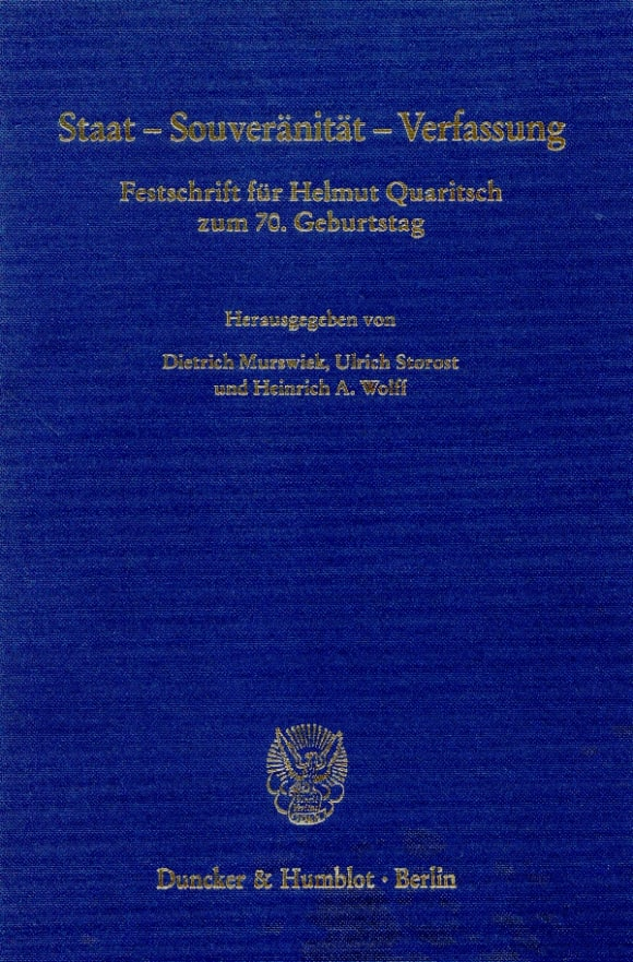Cover Staat - Souveränität - Verfassung