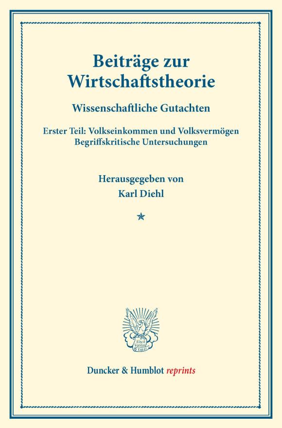 Cover Beiträge zur Wirtschaftstheorie