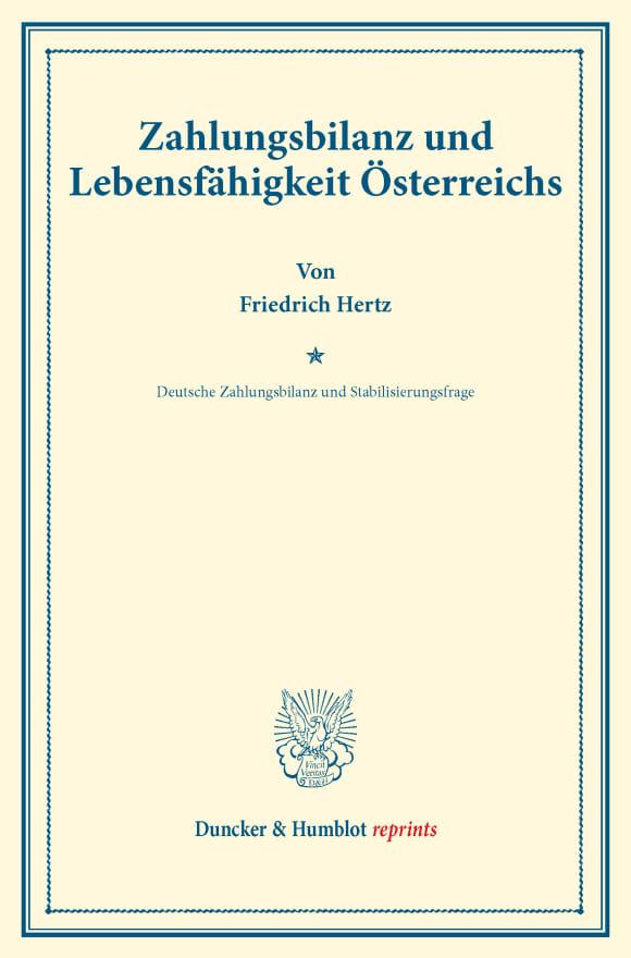 Cover Zahlungsbilanz und Lebensfähigkeit Österreichs