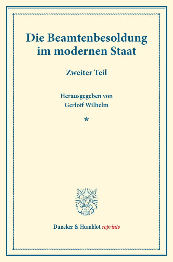 Cover Die Beamtenbesoldung im modernen Staat