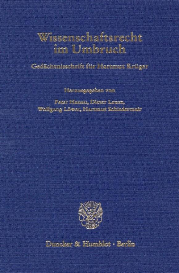 Cover Wissenschaftsrecht im Umbruch