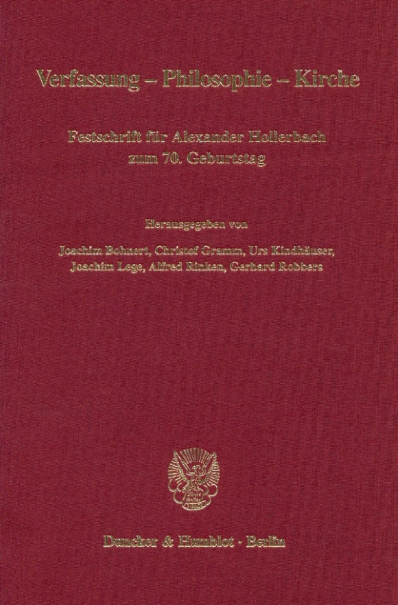 Cover Verfassung - Philosophie - Kirche