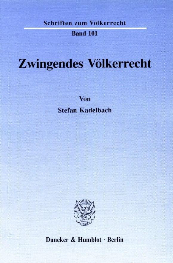 Cover Zwingendes Völkerrecht