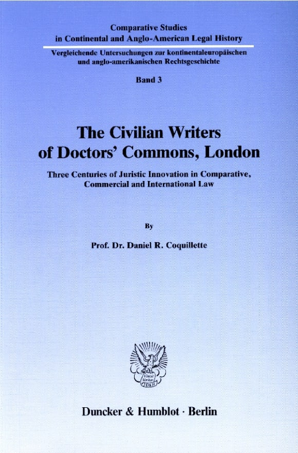 Cover The Civilian Writers of Doctors' Commons, London