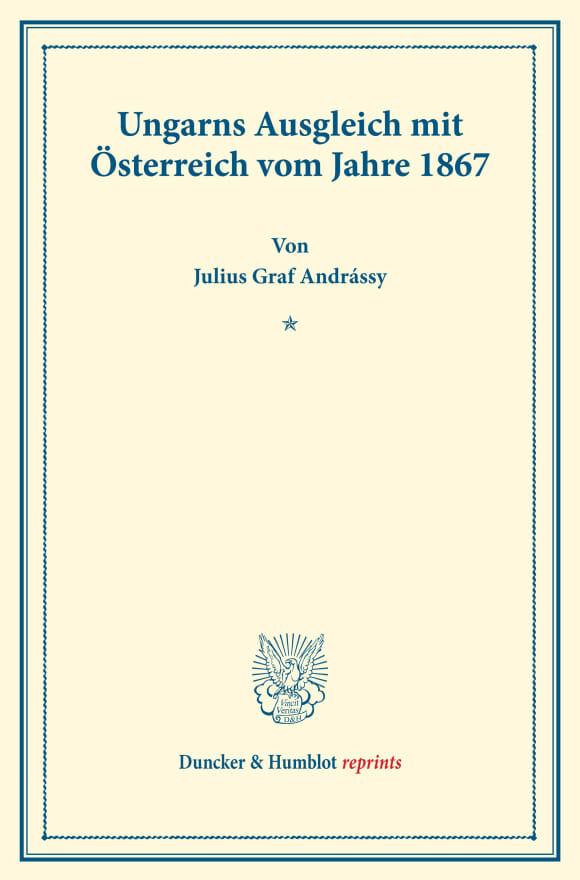 Cover Ungarns Ausgleich mit Österreich