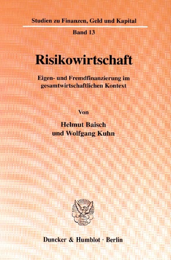 Cover Risikowirtschaft