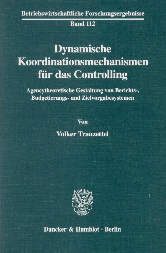 Cover Dynamische Koordinationsmechanismen für das Controlling
