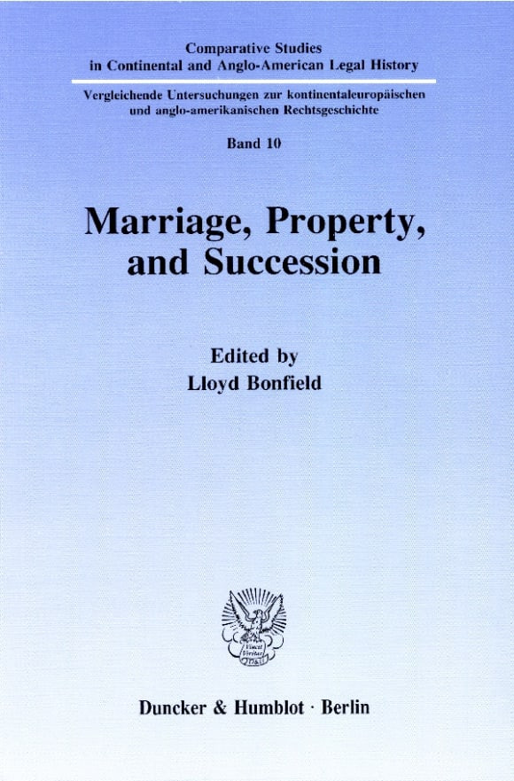 Cover Marriage, Property and Succession