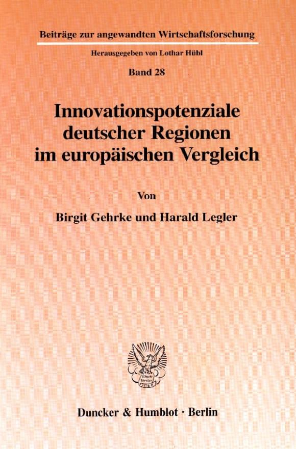 Cover Innovationspotenziale deutscher Regionen im europäischen Vergleich