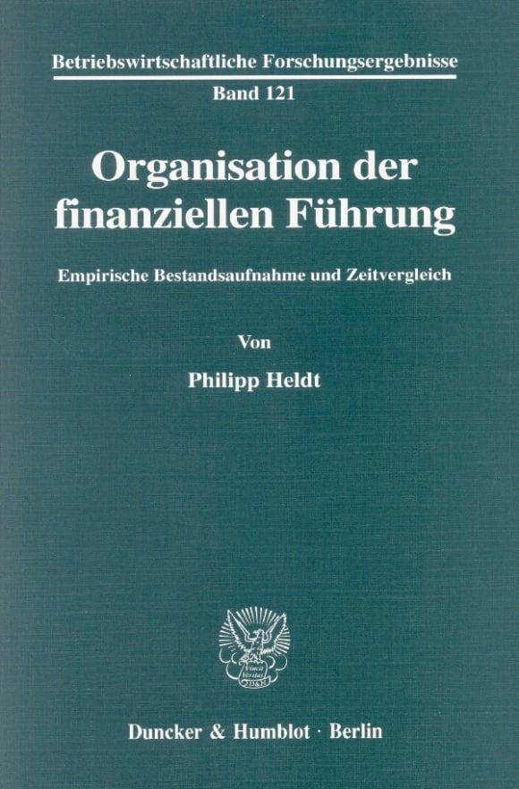 Cover Organisation der finanziellen Führung