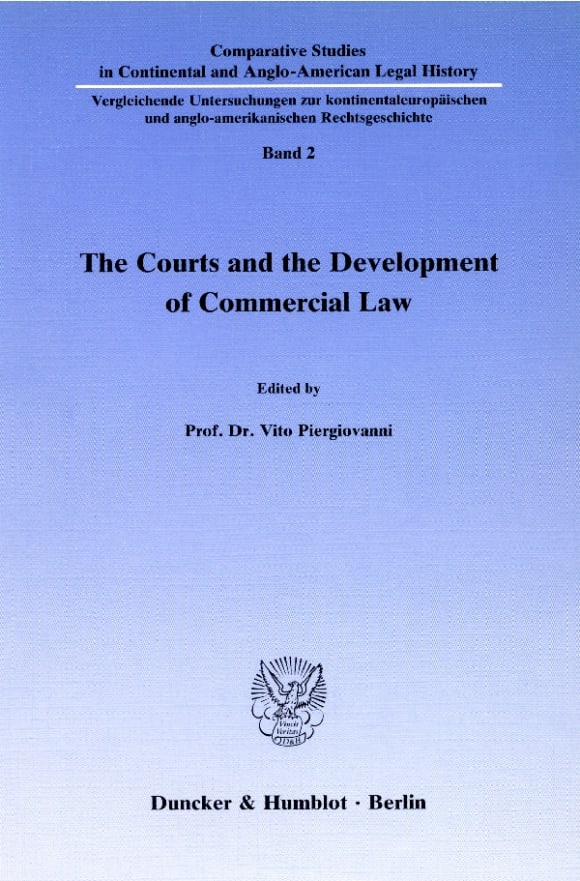 Cover The Courts and the Development of Commercial Law