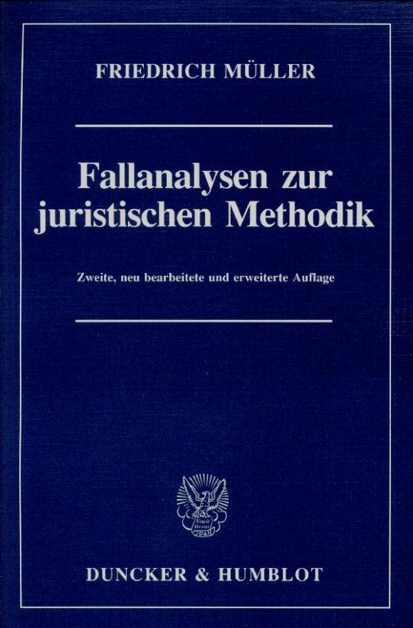 Cover Fallanalysen zur juristischen Methodik